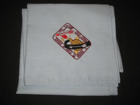 1990 NOAC Blue Embroidered Table Cloth