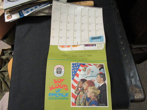 1973 Boy Scout Calendar, Rockwell Cover