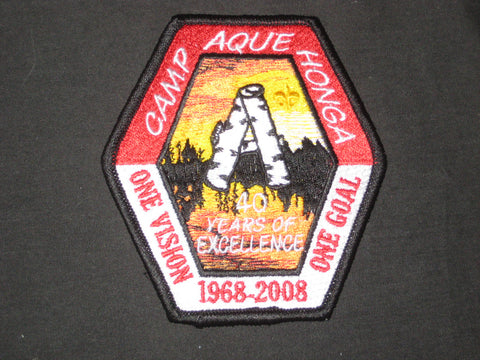 Camp Ague Honga 2008 40th Anniversary Patch