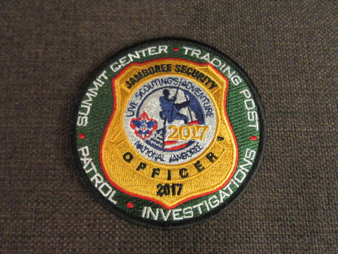 2017 National Jamboree Security Officer Patch