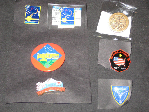 2007 World Jamboree lot of 6 Hat Pins