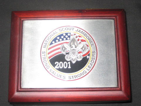 2001 National Jamboree Wooden Jewelry or Trinket Box