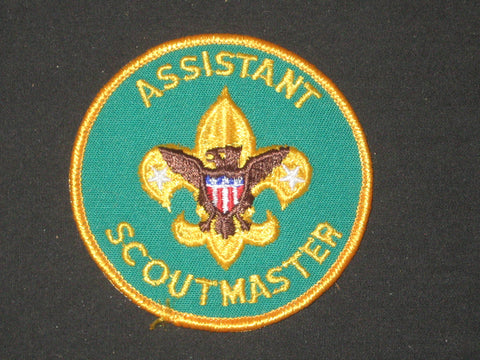 Assistant Scoutmaster Patch, paperlike back