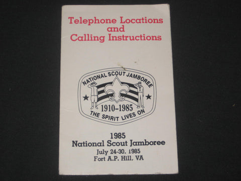 1985 National Jamboree Telephone Locations and Calling Instructions