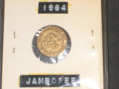 1964 National Jamboree round Lapel Pin,