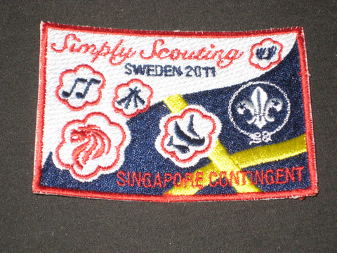 2011 World Jamboree Singapore Contingent Patch