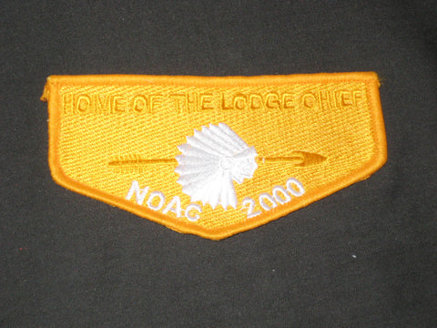 2000 NOAC Home of the Lodge Chief Flap
