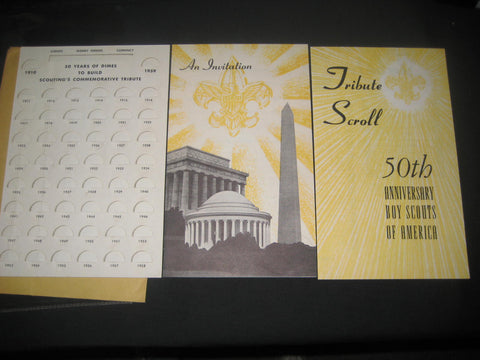 Boy Scout Monument, Wash. DC fundraising Materials 1958