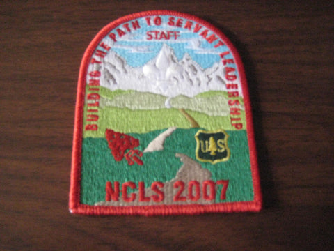 2007 NCLS red border Staff Pocket Patch