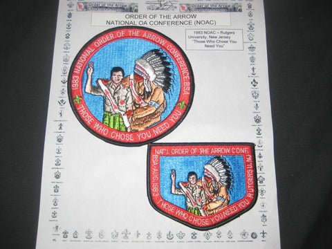 1983 NOAC Pocket & Jacket Patches