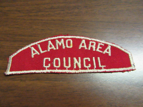 Alamo Area Council Red and White Strip
