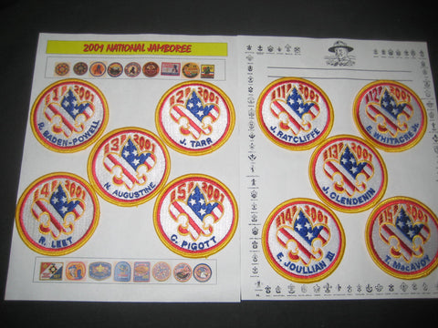 2001 National Jamboree Set of 20 Subcamp Patches