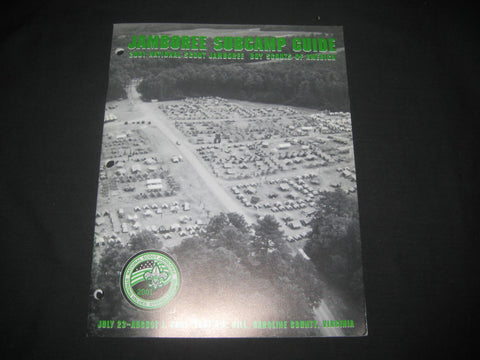 2001 National Jamboree Subcamp Guide