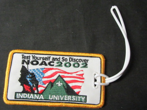 2002 NOAC Embroidered Luggage Tag