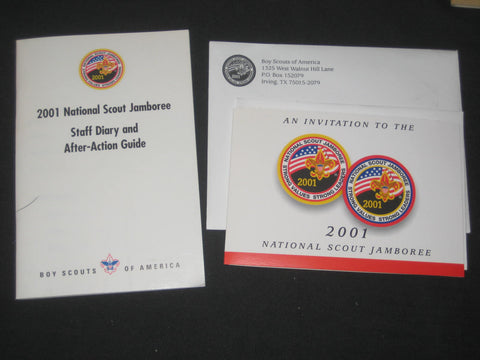 2001 National Jamboree Staff Diary & Action-Action Guide, and an Invitation to Visit the Jamboree
