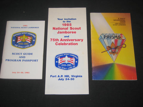 1985 National Jamboree Lot of Paper Items