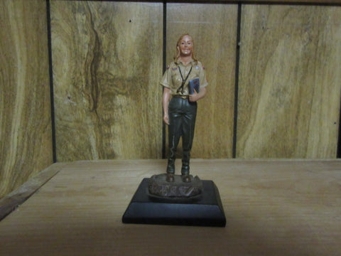 Lady Scouter Statuette 5 1/2 inches tall
