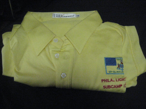 1981 National Jamboree Phila. Light Horse Subcamp 13 Staff Polo Shirt, size xxl