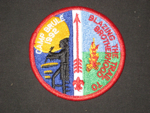 Camp Brule 1992 Blazing the Trail to Brotherhood Patch