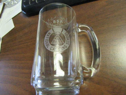 National Camping School glass Tankard
