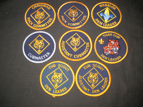 8 Different Cub Scout Position Patches