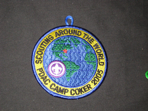 Camp Coker 2005 Scouting Around the World PDAC Blue Border Patch
