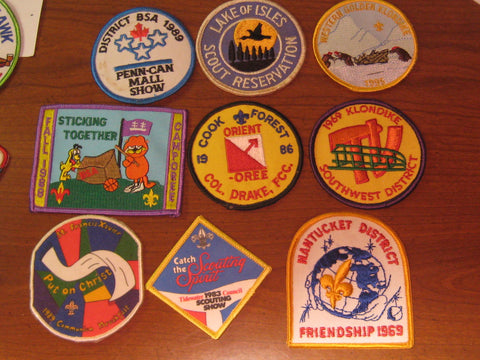 Boy Scout Activity Patches, lot of 31, 1960-80s