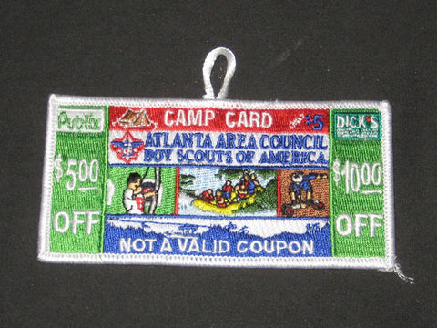 Atlanta Area Council Camp Card Patch