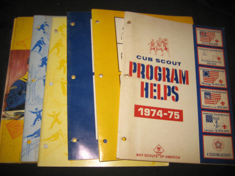5 1970s Cub Scout Program Helps & Cub Scout Fun Book