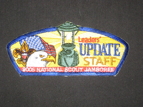 2005 National Jamboree Leaders' Update Staff JSP, blue & black border