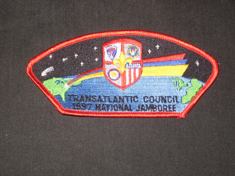 Transatlantic Council 1997 National Jamboree Red Border JSP