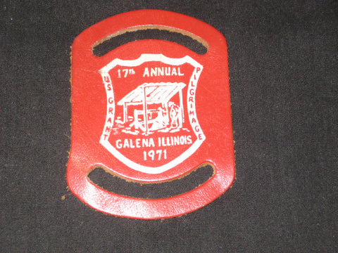 US Grant Pilgrimage Galena, Illinois 17th Annual Leather Neckerchief