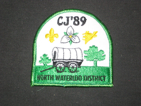 CJ'89  North Waterloo District, Canada National Jamboree Pocket Patch