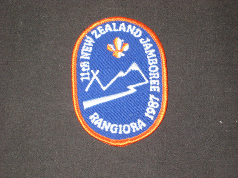 1987 11th New Zealand Jamboree Rangiora Patch