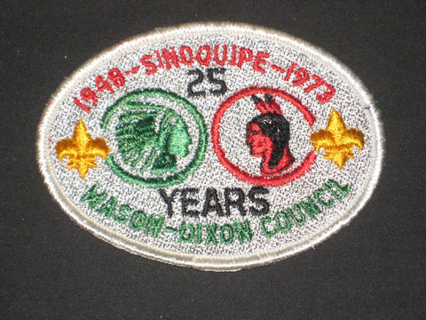 Camp Sinoquipe 25th Anniversary 1973 Pocket Patch