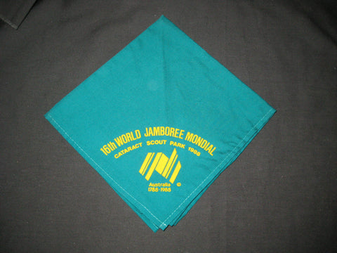 1987-88 World Jamboree green Neckerchief