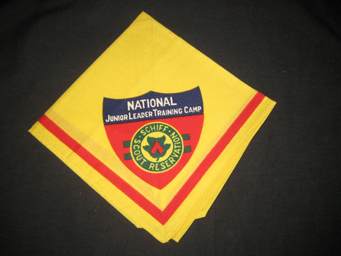 Schiff Scout Reservation Junior Leader Training Camp Neckerchief, printed border