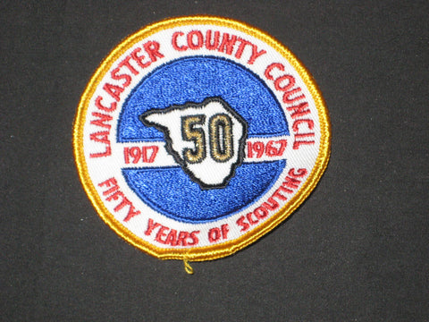 Lancaster County Council 1967 50th Anniversary Council Patch