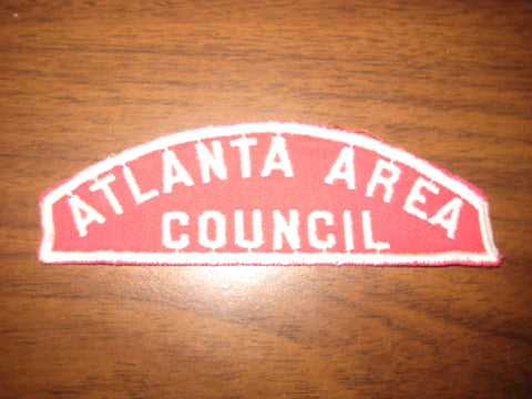 Atlanta Area Council r&w, sewn