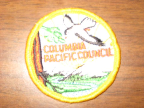 Columbia Pacific Council 2  1/2 inch round Council Patch without BSA