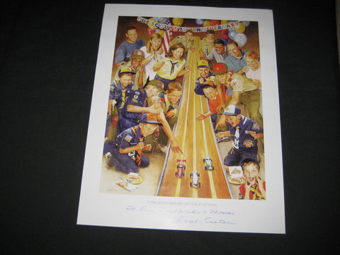 75th Anniversary of Cub Scouting Print, Csatari, signed