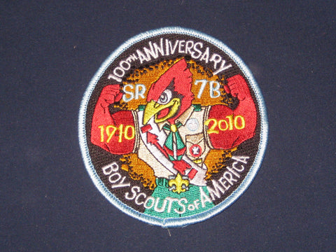 SR-7B 2010 100th BSA 100th Anniversary Pocket Patch