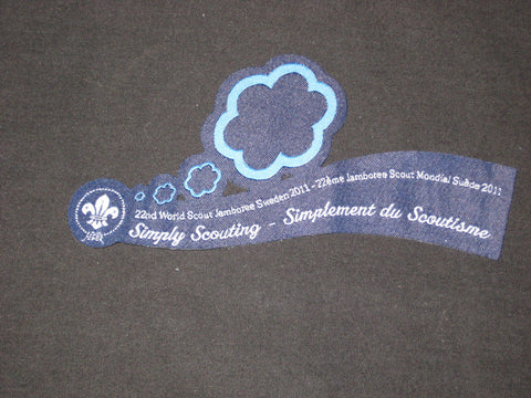 2011 World Jamboree Simply Scouting Ribbon Patch