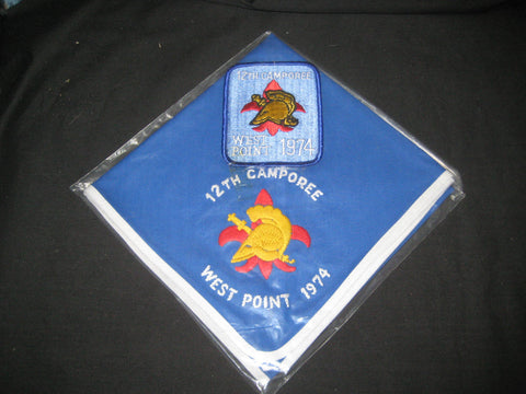 West Point 1974 Camporee Neckerchief and Pocket Patch