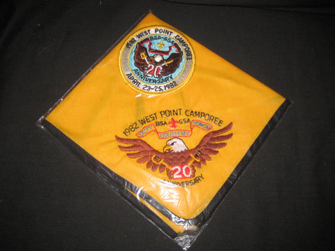 West Point 1982 Camporee Neckerchief and Pocket Patch