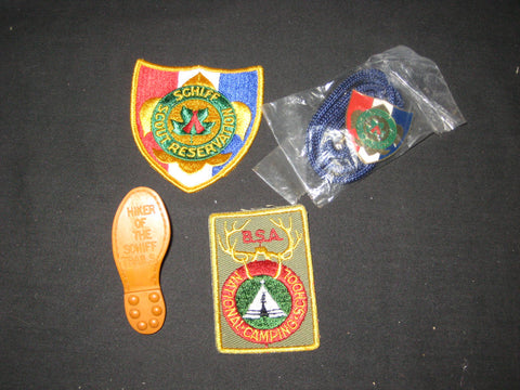 Schiff Scout Reservation, New Jersey Items with National Camping School Patch