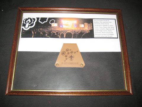 2011 World Jamboree Leather Belt Loop framed