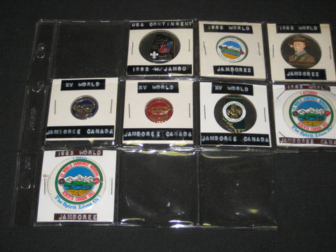 1983 World Jamboree Lot of 7 Pins and Buttons