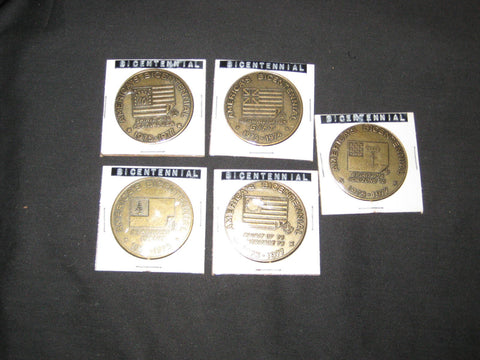 BSA US Bicentennial 1973-77 Set of 5 Coins