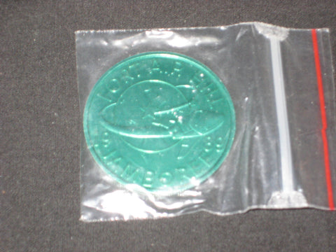 1989 National Jamboree and CJ' 89  Green Coin